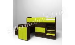 Кровать-чердак Малыш 1600 Венге/Лайм